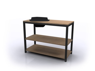 Volcane Console Table Wood, Black