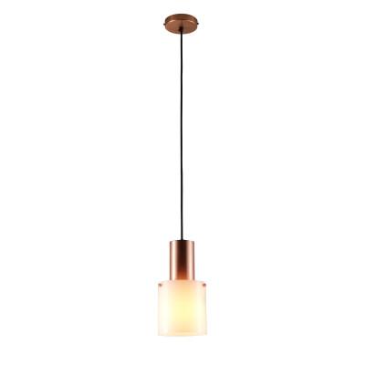 Walter Pendant Light Opal Glass & Copper, Small