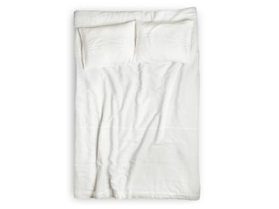 White linen duvet Pleated King/UK Super King 260x220cm