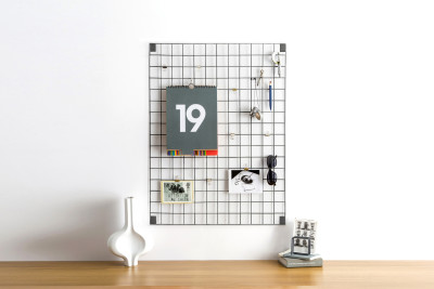 Wire Mesh Memo-Board Grey