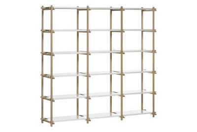 Woody Shelving System Nature, White, High