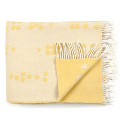 Wool Throw Dot Yellow