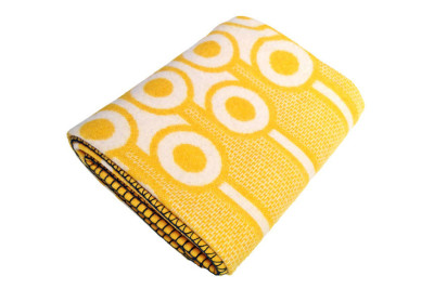Woven Lambswool Blanket Yellow Eggs