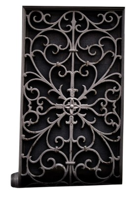 Wrought Metal Gate Wallpaper Sample