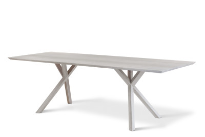 XY Rectangular Table Matt Lacquered Walnut, 100x360 cm