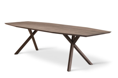 XY Trapezium Table Matt Lacquered Walnut, 105x360 cm