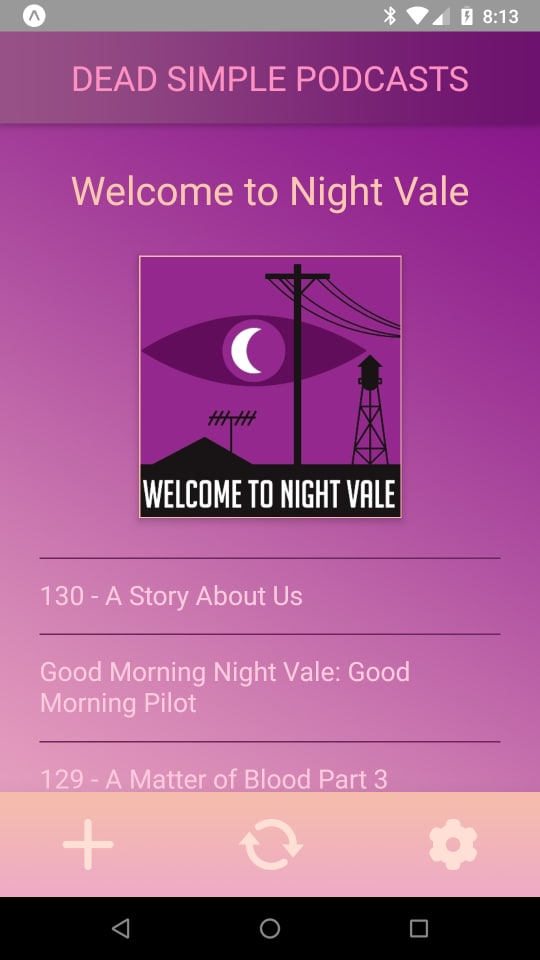 Dead Simple Podcasts - Home Screen