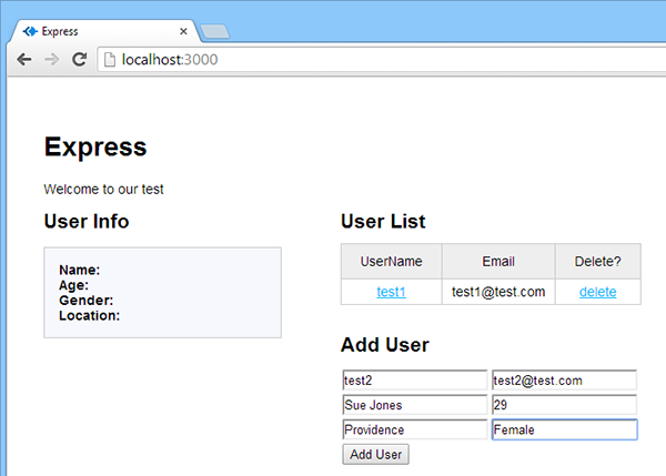 Restful Web App Screenshot 5