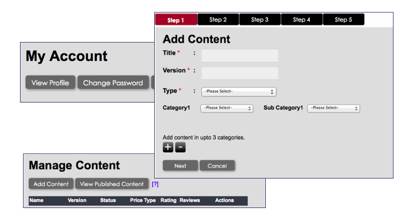 Content Management Console