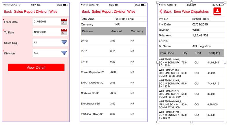 SAP ESS Sales Reports