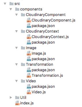 Expanded components folder