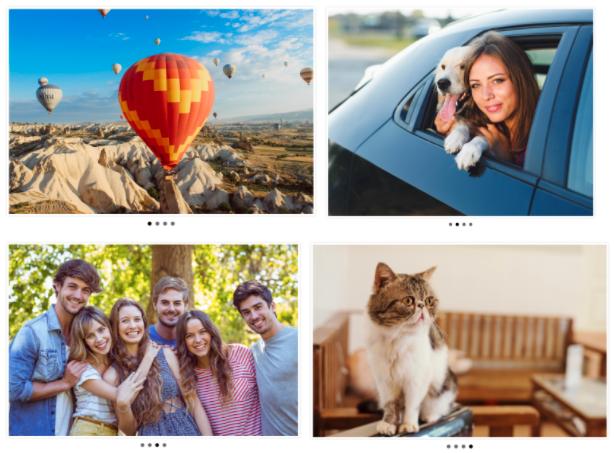Four Slider images