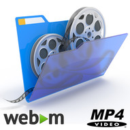Animated GIF to WebM and MP4