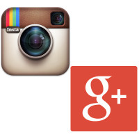 Instagram and Google+