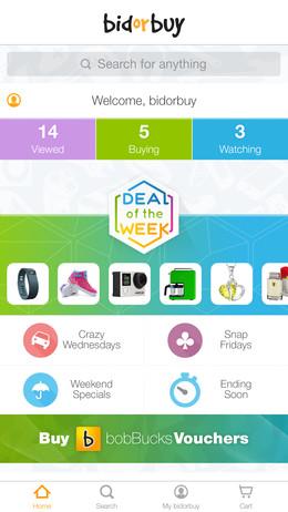 bidorbuy mobile app screenshot