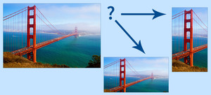 Conditional image transformations illustration