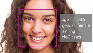 Microsoft Face API face detection