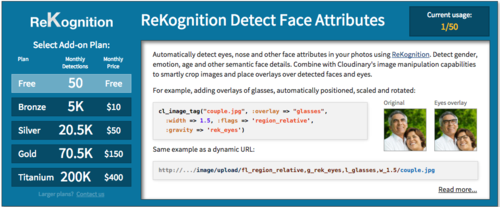 ReKognition detect face attributes add-on