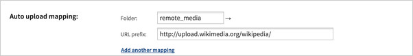 Auto-upload URL mapping