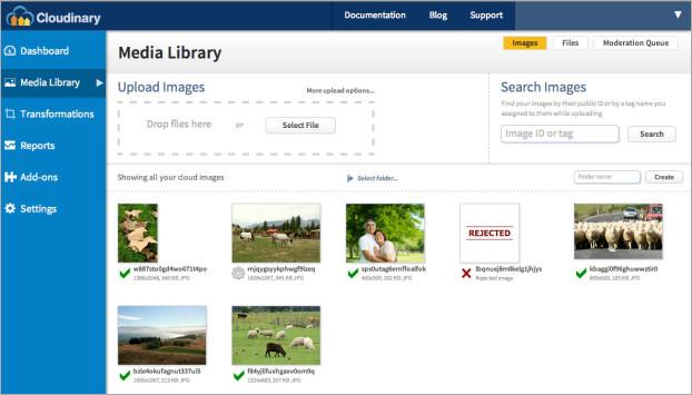 WebPurify moderation - media library