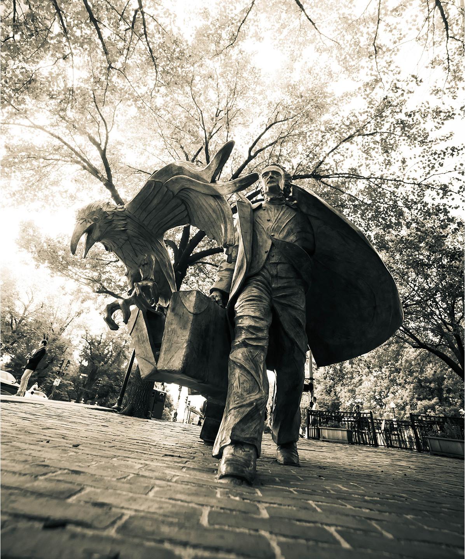 Poe Returning to Boston by Stefanie Rocknak