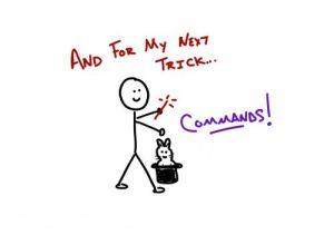 Adding commands isn't magic!
