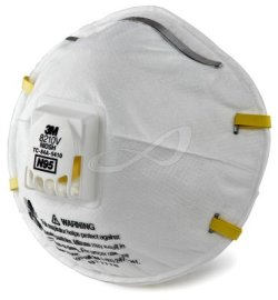 3M™ Particulate Respirator 8210V, N95 Respiratory Protection 80 each/case