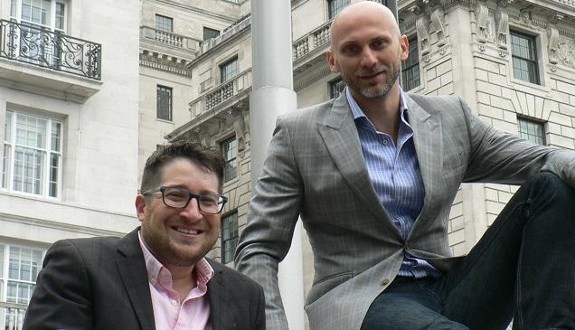 CompStak's co-founders Michael Mandel (left) and Vadim Belobrovka