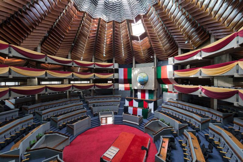 Kenyatta International Conference Centre, Nairobi (Kenya), von Karl Henrik Nostvik, 1967-1973.