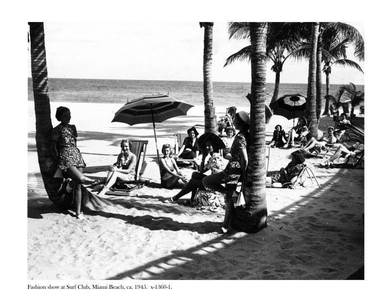 Fashion Show im Surf Club, Miami Beach, 1945