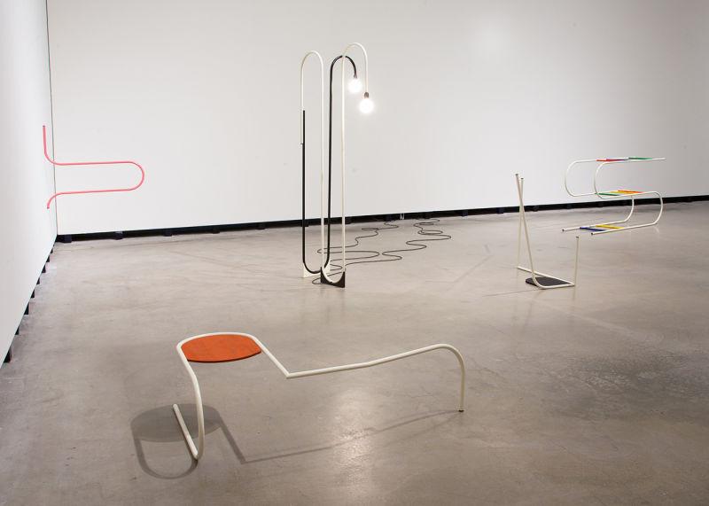"""Der entfesselte Blick"" Erika Hock: Elbows & Knees, 2014"