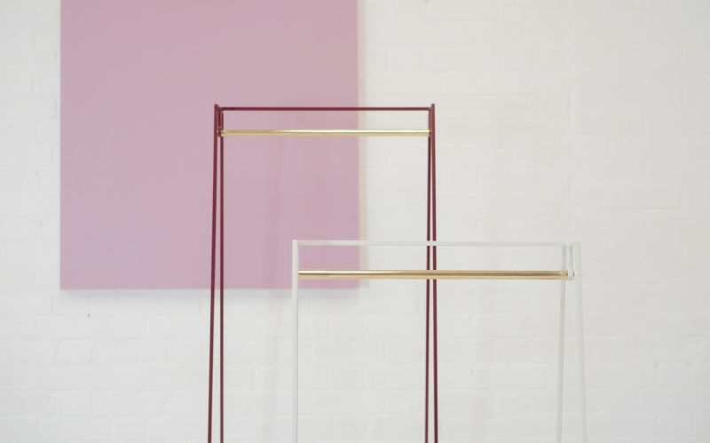 Limited-edition-A-clothes-rails-with-brass-poles