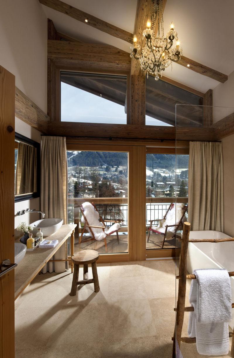 "Das Mountain Design Resort ""Kitzhof"" in Kitzbühl."