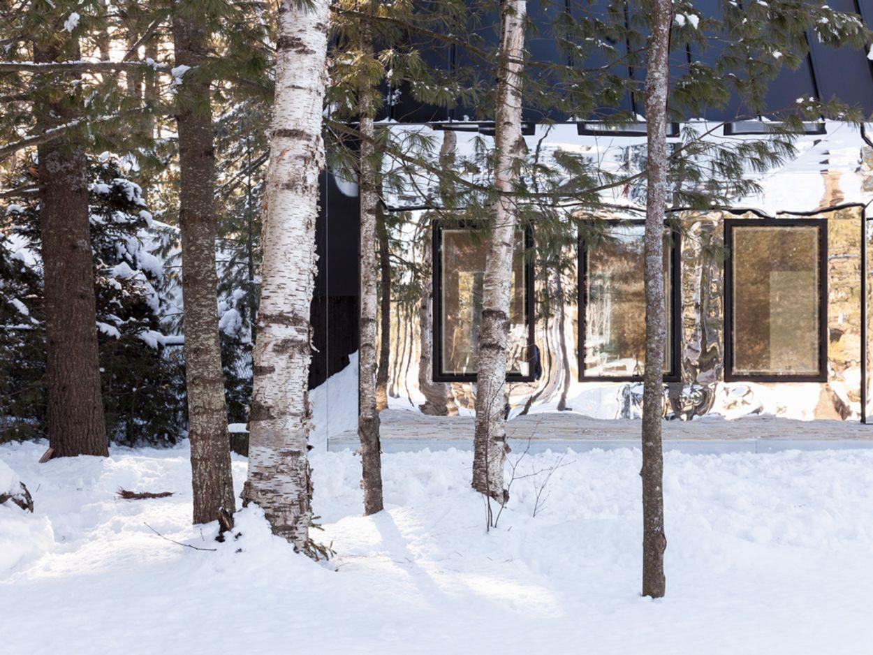 Spiegelfassade, Haus am See, UUfie, Kanada