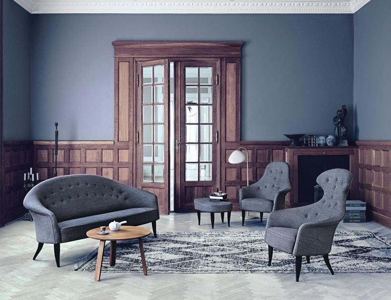 Paradiset-sofa_Adam-Lounge-Chair_Eva-Lounge-Chair_Fig-Leaf-footrest_Paper-Table_Cobra-floor-lamp