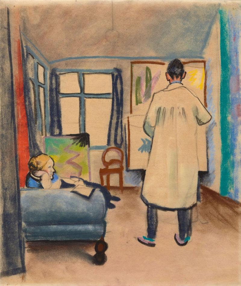 Macke_Franz_und_Maria_Marc_im_Atelier_1912_c_Lenbachhaus_gross