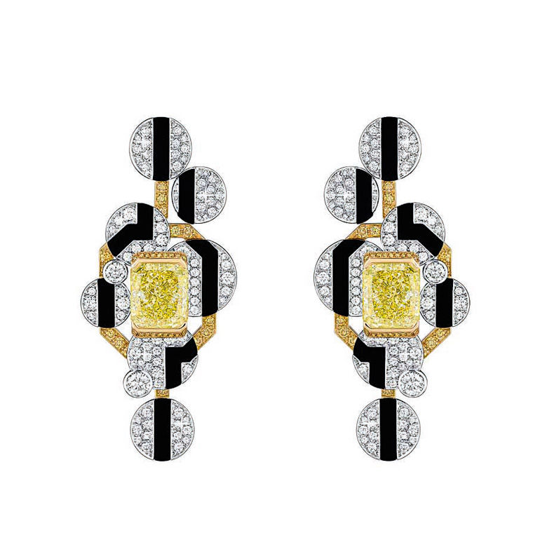 """Ohrringe """"Morning in Vendôme"""" mit gelben Diamanten aus der Haute-Joaillerie-Kollektion """"Café Society"""" von Chanel, 485000 Euro."""