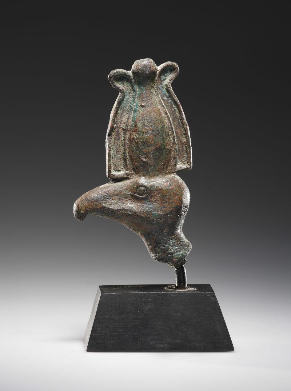 Kopf eines Geiers, Bronze, Ägypten, Spätzeit, 664-343 v.C.
