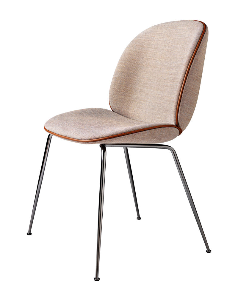 Beetle_Chair_BlackChrome_Beige_Front