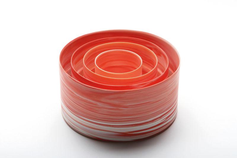 Shadowed Color Red Cylinder