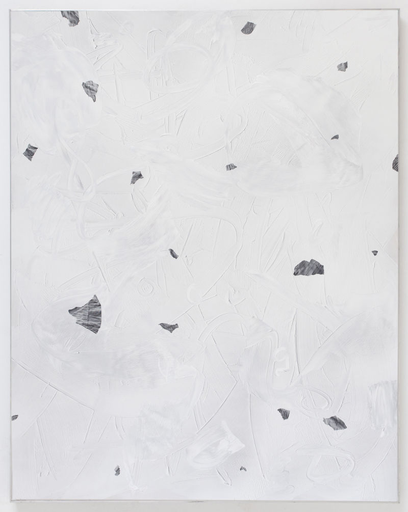 Joe Reihsen, Sincerly, the woman that sat next to you (2014), Natural and synthetic polymers on panel, aluminum frame.