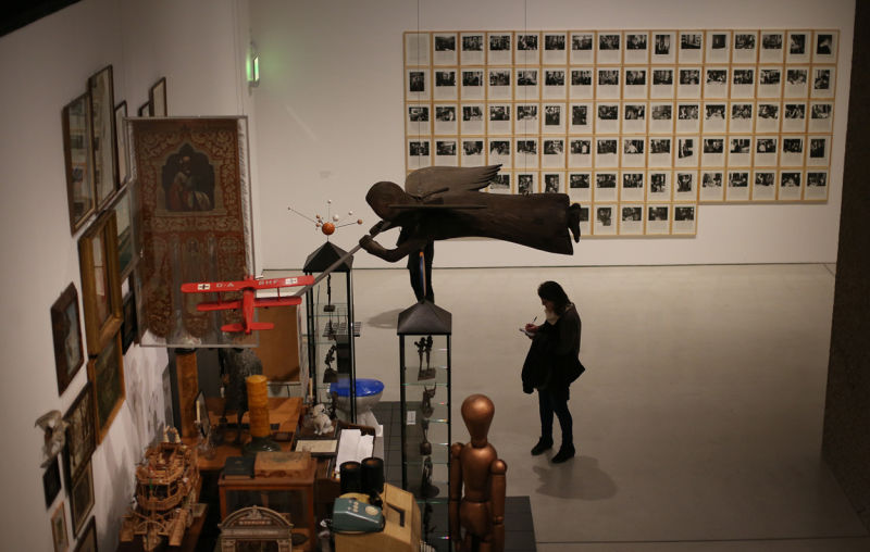 Hanne Darboven collection. Installation view: Magnificent Obsessions. The Artist as-Collector, Barbican Art Gallery.
