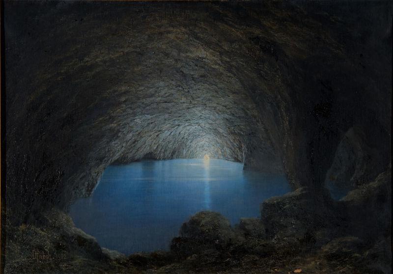 Karl-Wilhelm-Diefenbach_Die-Blaue-Grotte-auf-Capri,-1902