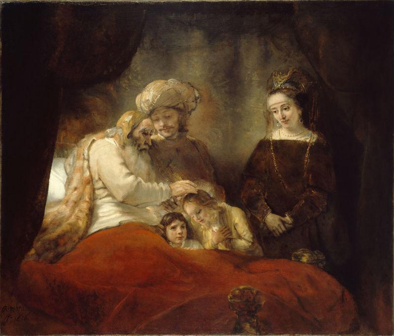Jacob-zegent-zijn-kleinzoons-Rembrandt-Harmensz-van-Rijn,-ca-1655_1658-Staatliche-Museen-Kassel_