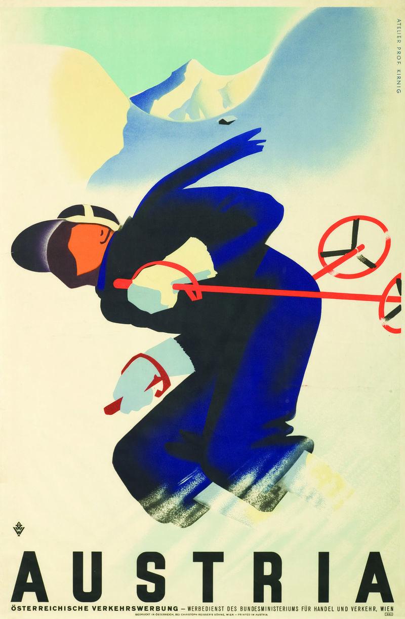 """""""Die Kunst des Skifahrens. Vintage Plakate 1890-1960"""" von  Jenny de Gex, erschienen im Brandstätter Verlag."""