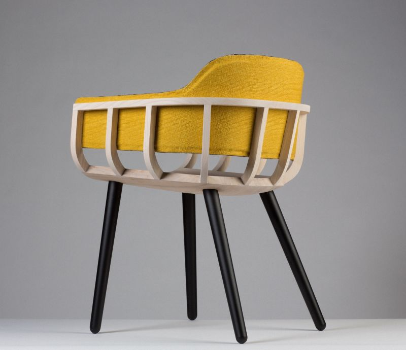 Liminal_Irish design at the threshold_ID2015_Notion and Mourne Textiles_Frame chair_back view_PR