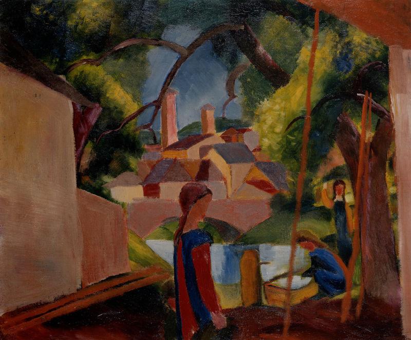 Macke_Kinder_am_Brunnen_1914_c_Kunstmuseum_Bonn_gross