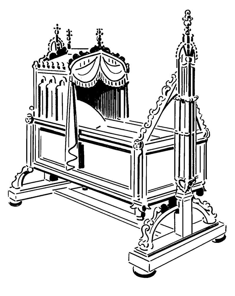 Kinberbett Illustration