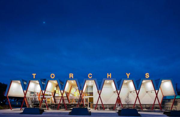 """Nicht zu verfehlen: """"Torchy's Tacos"""" in Austin, Texas."""