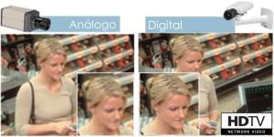 Comparación cámara análoga con digital